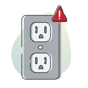 outlet problem icon